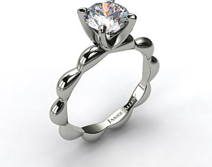 18K White Gold Seeds of Nature Engagement Ring