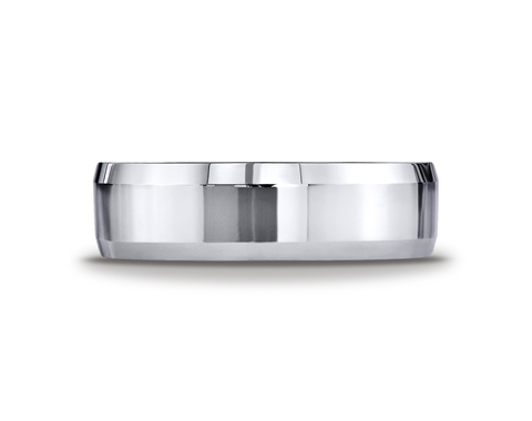 Cobaltchrome™ 7mm High Polish, Beveled Wedding Ring