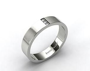 14K Rose Gold 6mm Recessed Diamond Wedding Ring