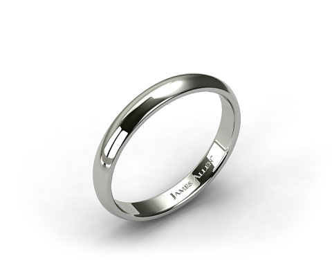 Palladium4mm Slightly Domed Comfort Fit Wedding Ring