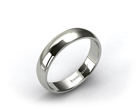 Palladium 6mm Slightly Domed Comfort Fit Wedding Ring