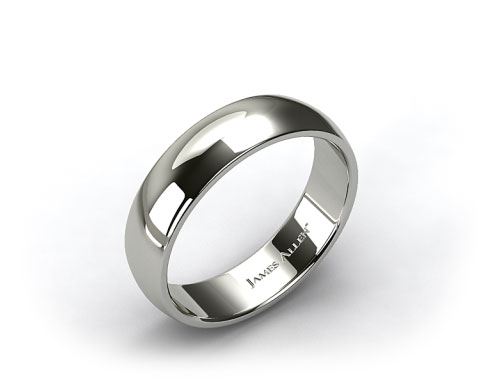Platinum 7mm Slightly Domed Comfort Fit Wedding Ring