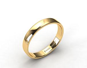 18k Yellow Gold 4.5mm Slightly Flat Comfort Fit Wedding Ring