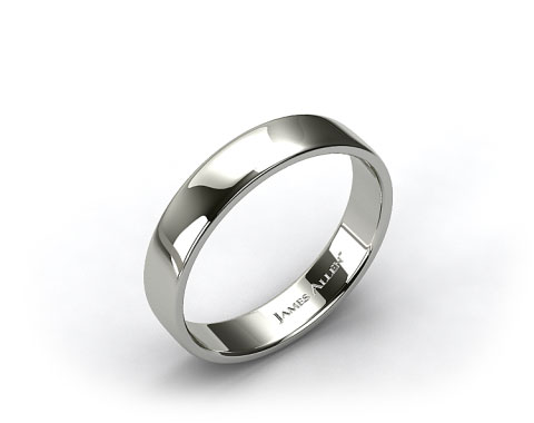 14k White Gold 5.5mm Slightly Flat Comfort Fit Wedding Ring