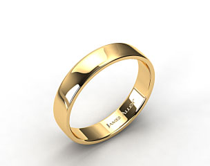 18k Yellow Gold 5.5mm Slightly Flat Comfort Fit Wedding Ring