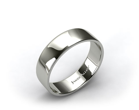 Platinum 7.5mm Slightly Flat Comfort Fit Wedding Ring