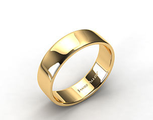 14k Yellow Gold 7.5mm Slightly Flat Comfort Fit Wedding Ring