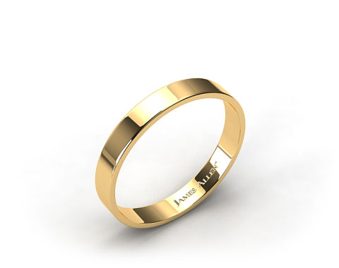 18k Yellow Gold 4.0mm Flat Comfort Fit Wedding Ring