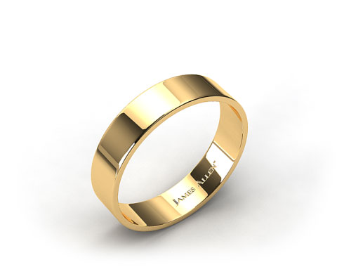 18k Yellow Gold 6.0mm Flat Comfort Fit Wedding Ring