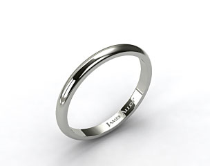 14k White Gold 3.0mm High Dome Comfort Fit Wedding Ring