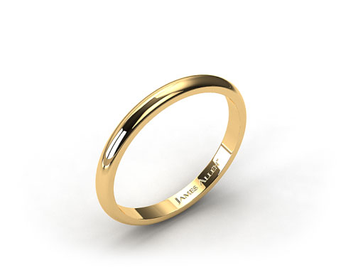 14k Yellow Gold 3.0mm High Dome Comfort Fit Wedding Ring