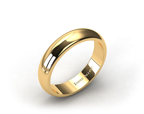 14k Yellow Gold 6.0mm High Dome Comfort Fit Wedding Ring