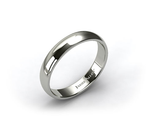 14k White Gold 5.0mm Low Dome Wedding Ring