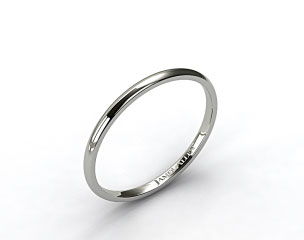 Platinum 2.0mm Traditional Slightly Curved Wedding Ring