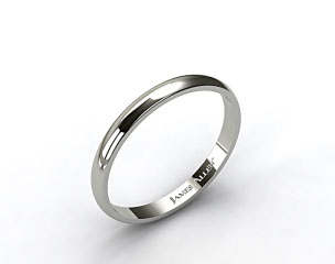 18k White Gold 3.0mm Traditional Slightly Curved Wedding Ring