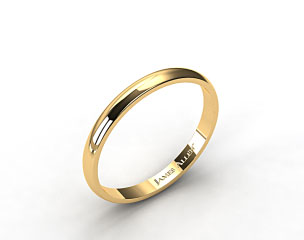 14k Yellow Gold 3.0mm Traditional Slightly Curved Wedding Ring