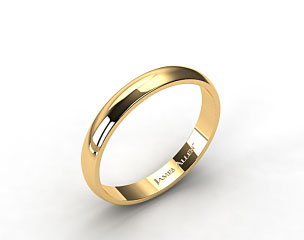 14k Yellow Gold 4.0mm Traditional Slightly Curved Wedding Ring