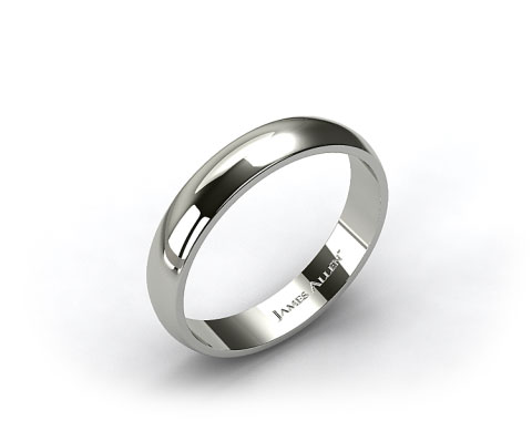 Platinum 5.0mm Traditional Slightly Curved Wedding Ring