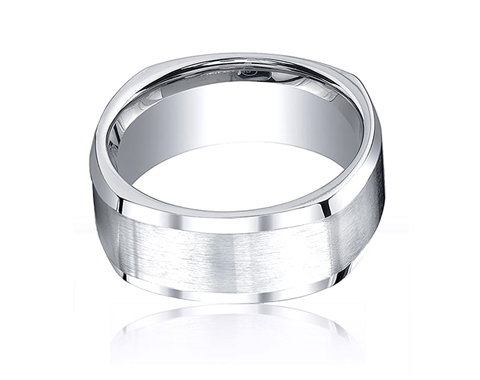 Cobaltchrome 9mm Four-Sided Wedding Ring