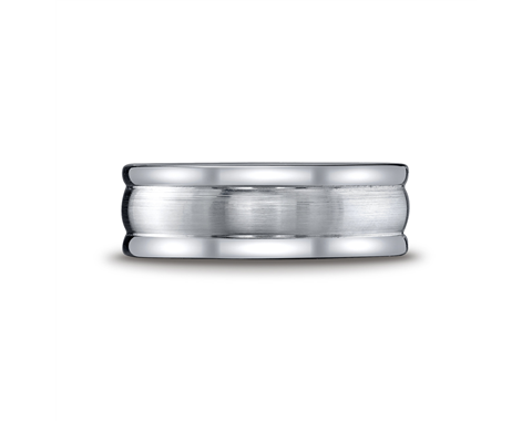Cobaltchrome™ 8mm Grooved Comfort Fit Wedding Ring