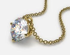 18k Yellow Gold 0.50ct F-G, VS Diamond Pendant