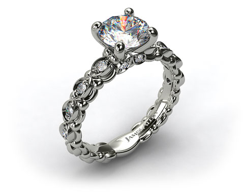Platinum Pave Undergallery Engagement Ring