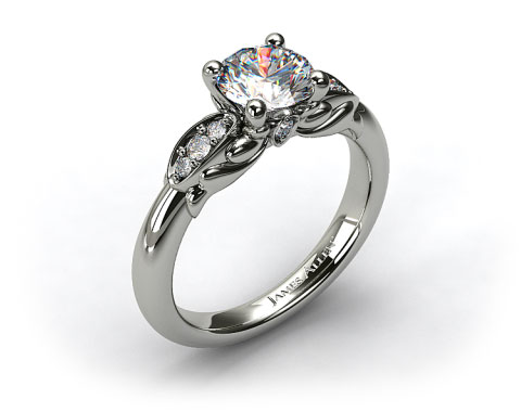 Platinum Pave Teardrop Engagement Ring