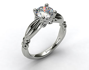 Platinum Pinched Bombay Engagement Ring