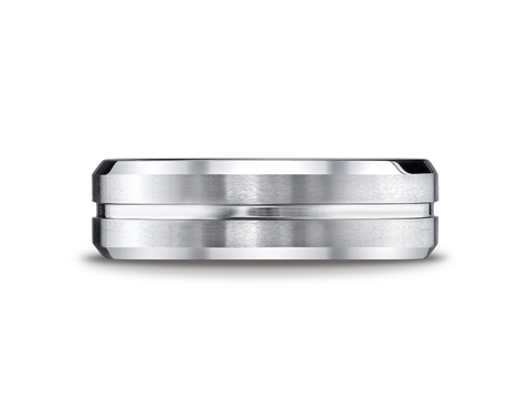 Cobaltchrome™ 7mm Multi-Grooved Wedding Ring