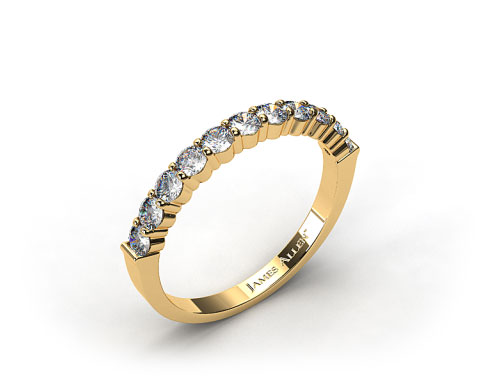 18k Yellow Gold 0.50ct Common Prong Diamond Wedding Ring