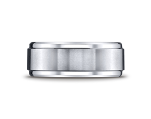 Cobaltchrome  9mm Double Edged Wedding Ring