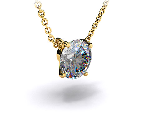 18k Yellow Gold 0.50ct F-G, VS Diamond Pendant