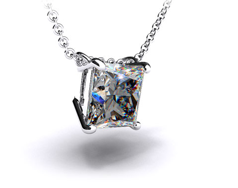 18k White Gold 1.00ct Diamond Pendant