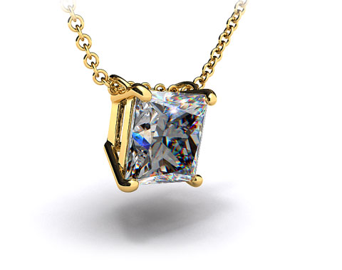 18k Yellow Gold 0.50ct Diamond Pendant