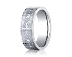 Cobaltchrome 7mm Cross Design Ring 11548CO