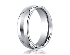 Cobaltchrome  7.5mm Comfort-Fit Satin-Finished Design Ring 11554CO