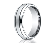 Cobaltchrome  7.0mm Comfort-Fit Satin-Finished Blackened Design Ring 11560CO
