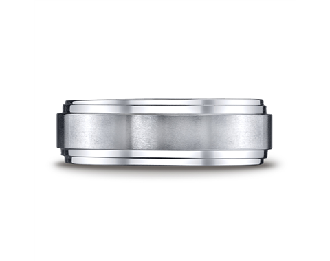 Cobaltchrome™ 8mm Double Edged Wedding Ring