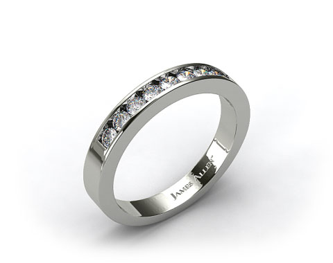 Platinum 0.45ct Round Shaped Diamond Wedding Ring