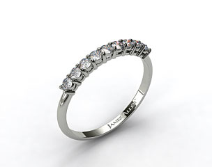 18k White Gold 0.58ct Prong Set Round Shaped Diamond Wedding Ring