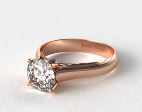 14K Rose Gold Surprise Diamond Solitaire Engagement Ring