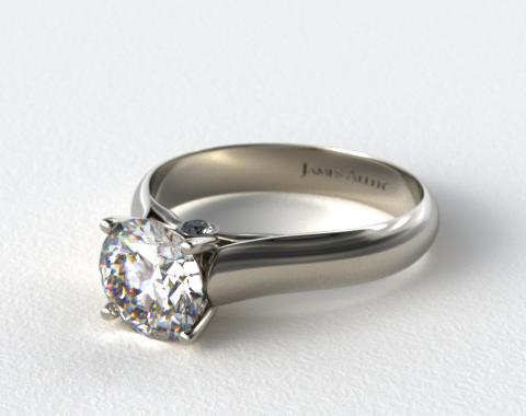 14K White Gold Surprise Diamond Solitaire Engagement Ring