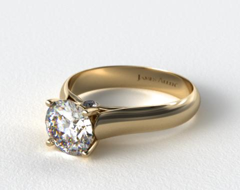 14K Yellow Gold Surprise Diamond Solitaire Engagement Ring