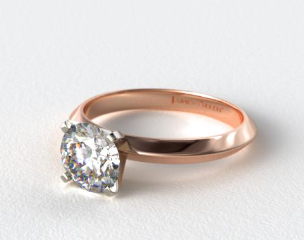 14K Rose Gold Presentation Solitaire (Four Prong)