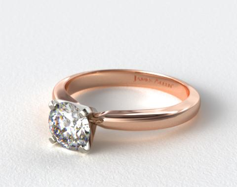 14K Rose Gold 2.5mm Comfort Fit Solitaire Engagement Ring