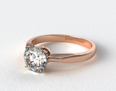 14K Rose Gold 2.2mm Wire Basket Solitaire Ring