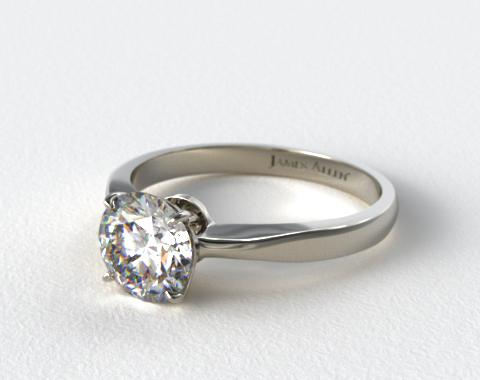 Platinum 2.2mm Wire Basket Solitaire Engagement Ring