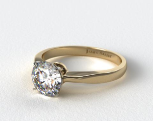 14k Yellow Gold 2.2mm Wire Basket Solitaire Ring