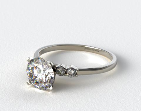 18K White Gold Common Prong Diamond Engagement Ring