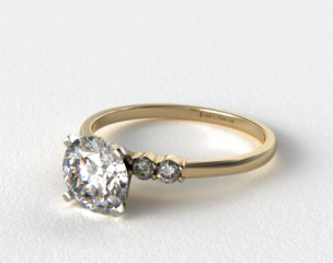 14k Yellow Gold Common Prong Diamond Engagement Ring